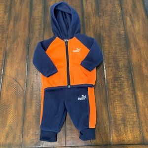 Puma fleece outfit for baby boy